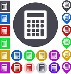 Color calculator icon set vector