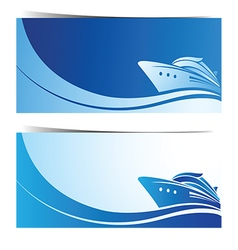 Cruise ship banner vector image