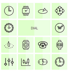 Dial icons vector
