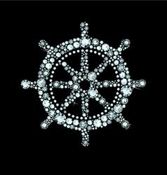 Diamond Ship Wheel vector