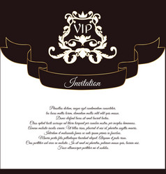 Elegant postcard for vip invitations and wedding vector