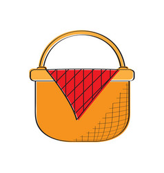 empty picnic basket icon vector image