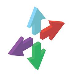 Enlarge arrows vector