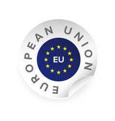 Eu - european union logo sticker vector