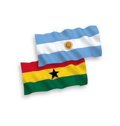 Flags ghana and argentina on a white background vector