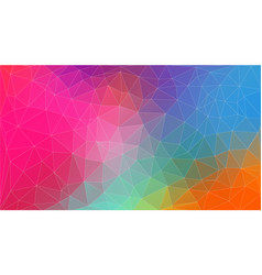 flat horizontal vintage color geometric triangle vector image