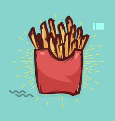 french fries poster with cool design stock vector image