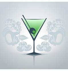 Glassofmartini vector image