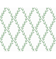 Green Floral Seamless Pattern from Leaves on white vector