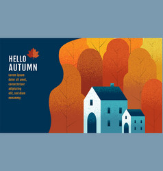 hello autumn banner design template vector image