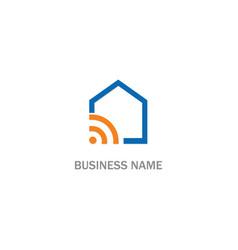 home signal wifi logo vector image