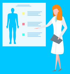 human healthcare doctor presenting lab vector image