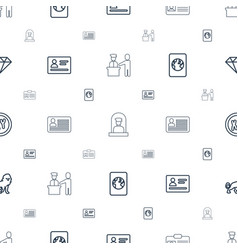 identity icons pattern seamless white background vector image