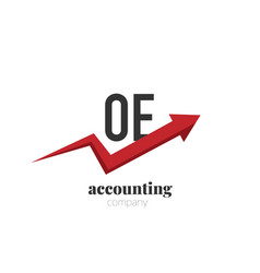initial letter oe creative finance - money vector image