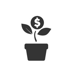 Investment icon vector