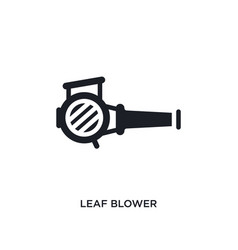 Leaf blower isolated icon simple element from vector