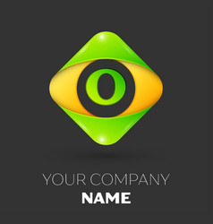 Letter o logo symbol in colorful rhombus vector
