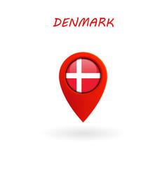Location icon for denmark flag eps file vector