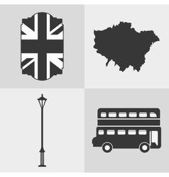 London england landmark set design vector