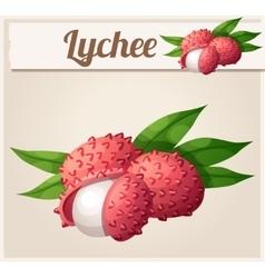 Lychee fruit Cartoon Icon vector
