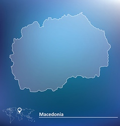 Map of Macedonia vector image