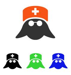 Medical nurse head flat icon vector
