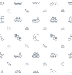 network icons pattern seamless white background vector image