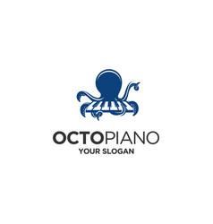 octo piano vector image