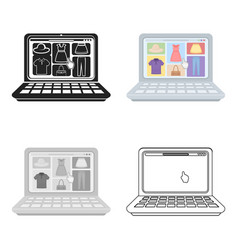 online shopping icon in cartoon style isolated on vector image