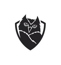 Owl bird logo vector