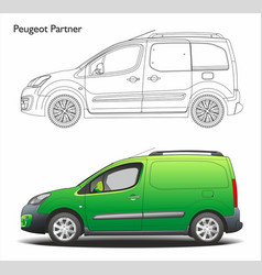Peugeot partner l1 2016 professional combi van vector