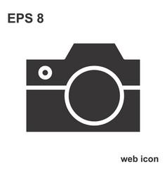 photo camera icon or snapshot sign vector image