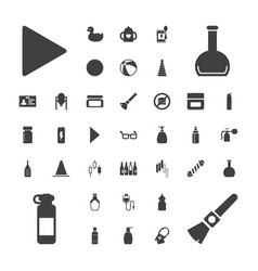 Plastic icons vector