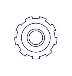 Purple line contour of gear of wheel vector