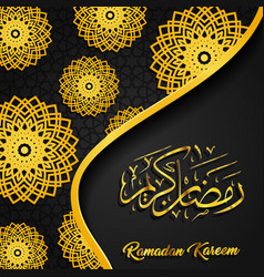 ramadan kareem mosque dome arabic circle pattern vector image