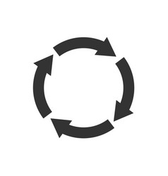 Recycle symbol isolated vector