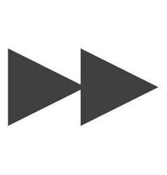 rewind icon vector image