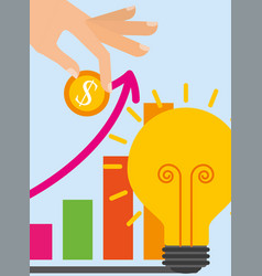 Saving money business vector