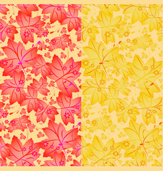 Seamless autumn pattern with maple leaves vector