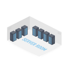 server room isometric image information storage vector image