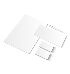 Set of CI blank templates with business cards vector