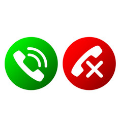 set of flat phone icons vector image