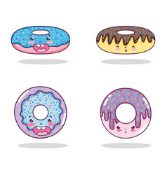 set of kawaii cartoons vector image