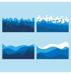 set of ocean waves vector image