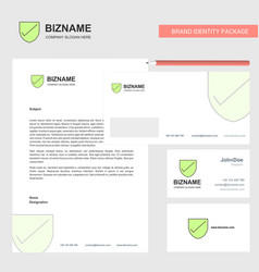 Sheild business letterhead envelope and visiting vector