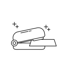 Stapler paper supply office line icon style vector
