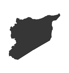 Syrian Arab Republic map silhouette vector