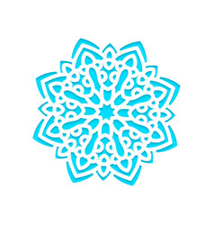Template snowflakes laser cut and engraved vector