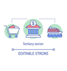 tertiary sector concept icon business produce vector image