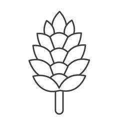 Thin line pine cone icon vector